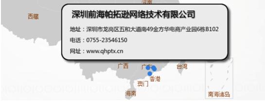 电子商务公司地图