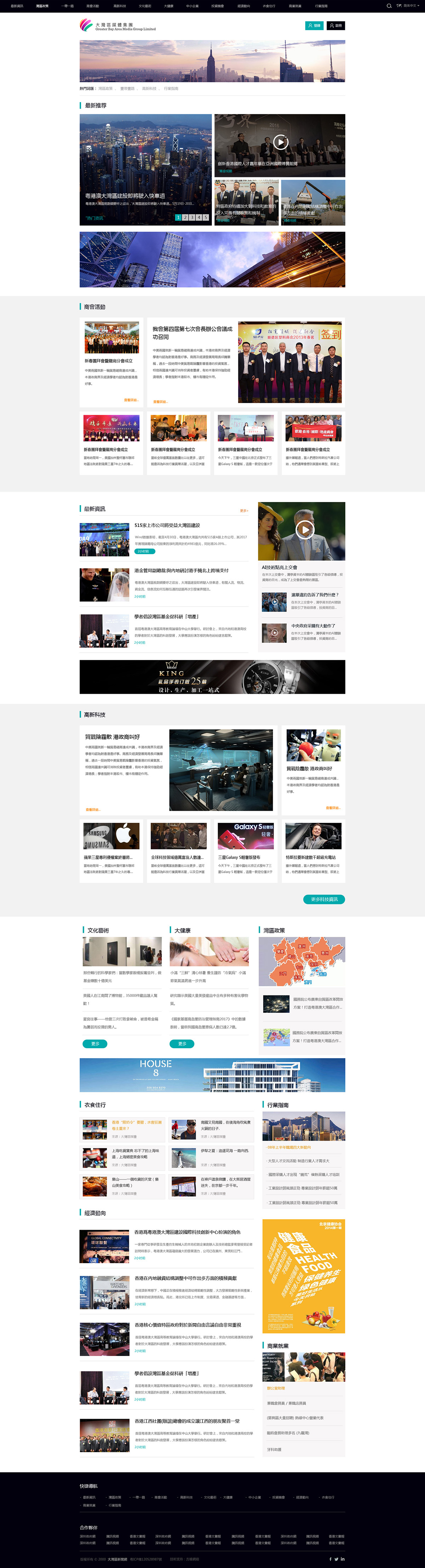 大灣區新聞網網站案例