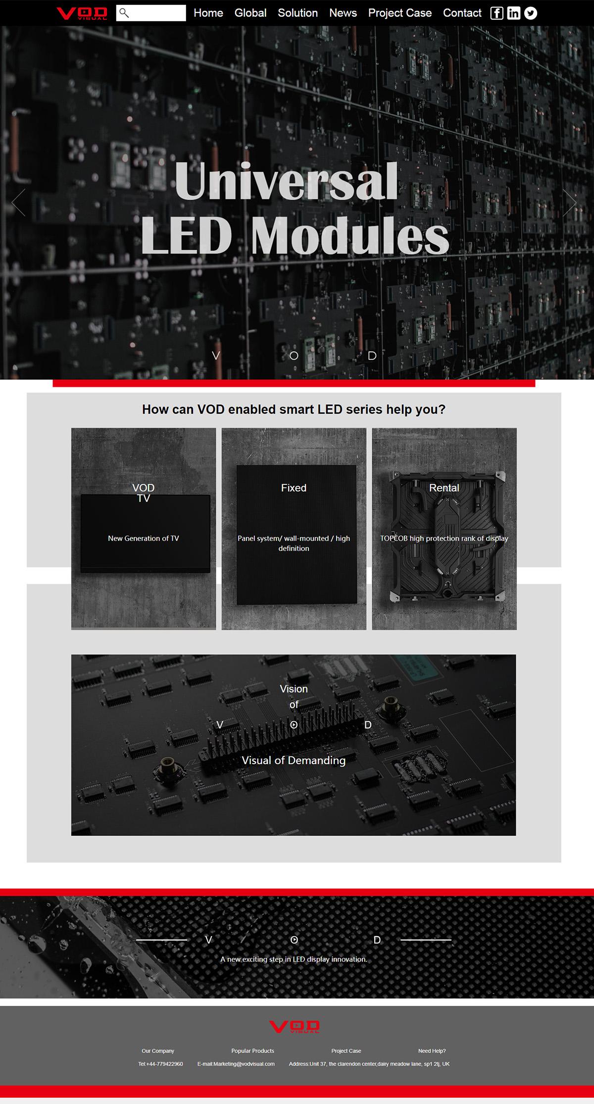沃顿科技网站案例