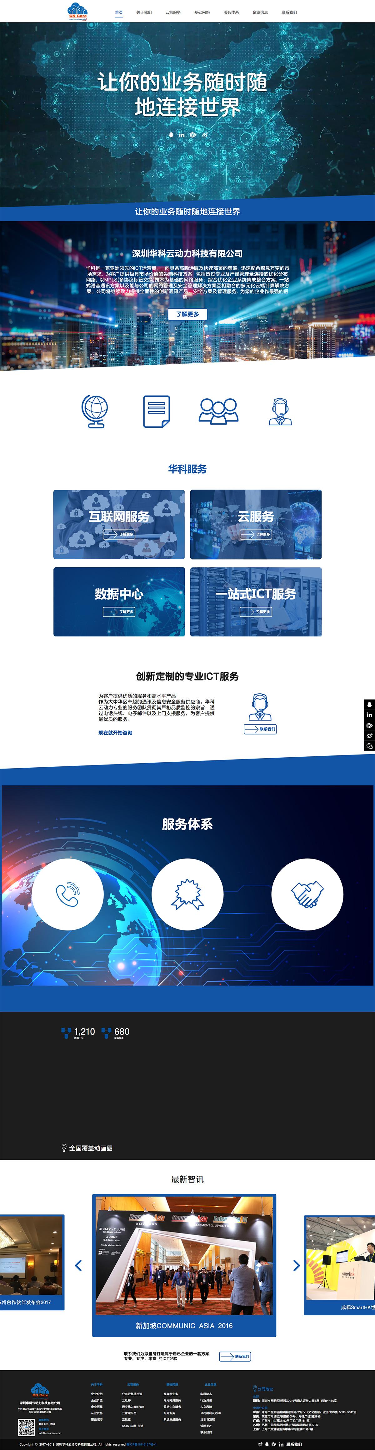 華科云動力網站案例