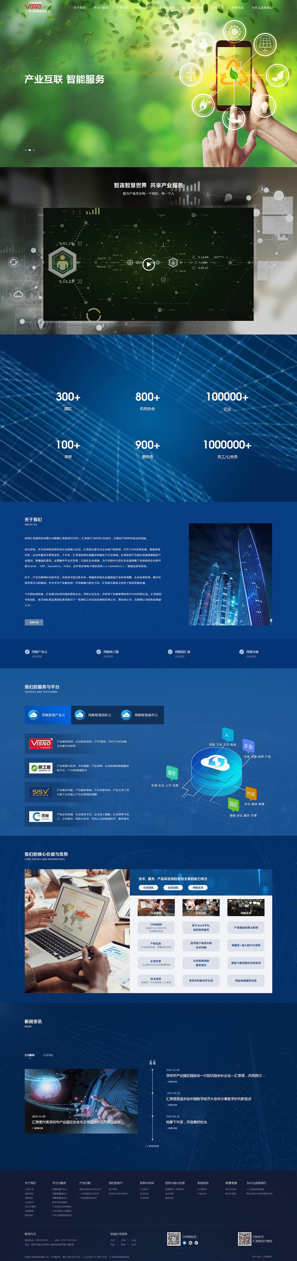 汇思诺科技网站案例
