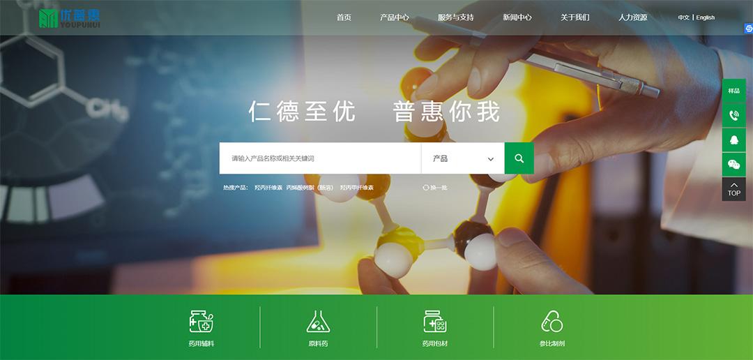 制药公司网站建设和小程序开发